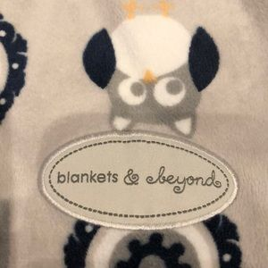 blankets and beyond Accessories - Blankets and beyond swaddle elephant & owl design